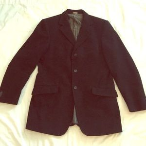 Banana Republic Black Cotton Twill Blazer 40R
